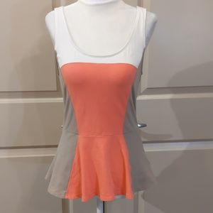 Color block peplum tank - AH005
